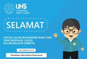 Selamat Datang Calon Mahasiswa Baru UNS Jalur SNMPTN