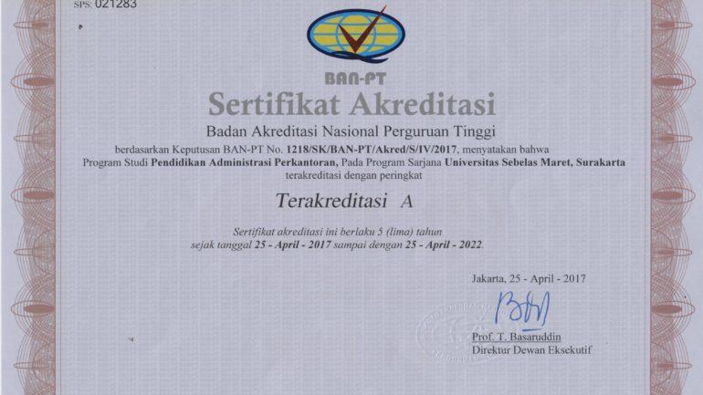 Sertifikat Akreditasi PAP